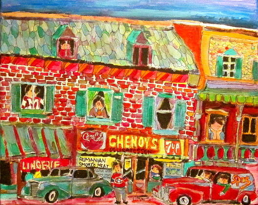 Montreal Painting - Chenoys 1940 by Michael Litvack