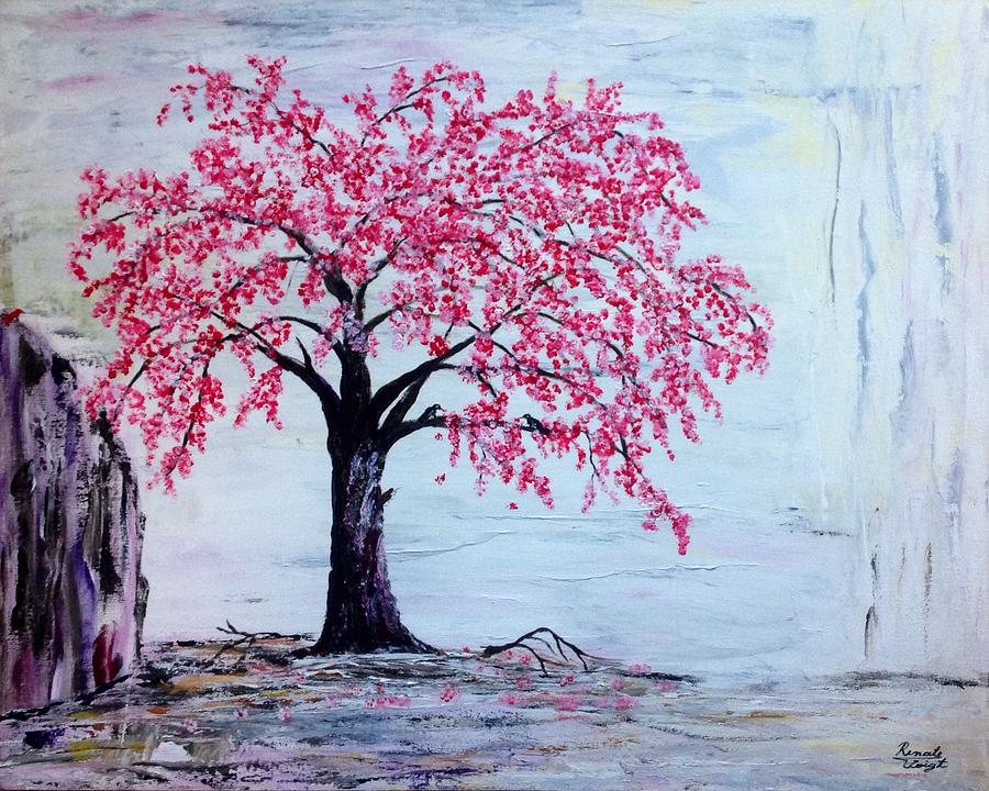 Cherry Blossom Tree  Painting - Cherry Blossom  by Renate Voigt