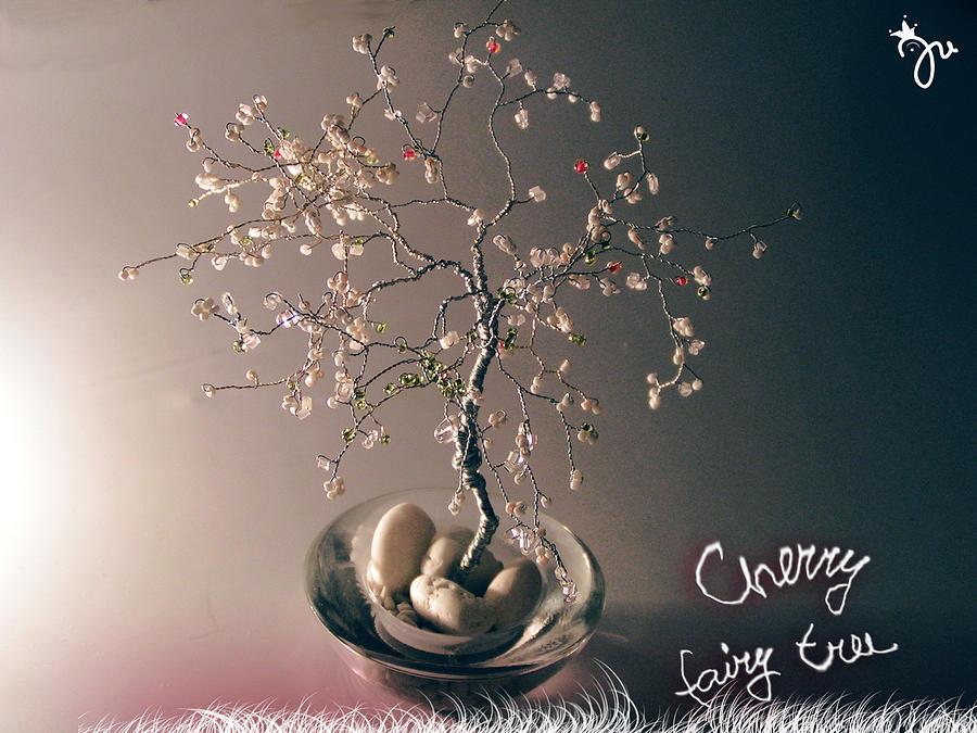 Wire Tree Sculpture - Cherry Fairy Tree by J-Star Wind