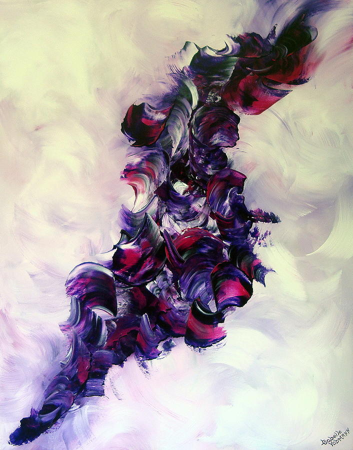 Abstract Painting - Cherry Rockn Roll by Isabelle Vobmann