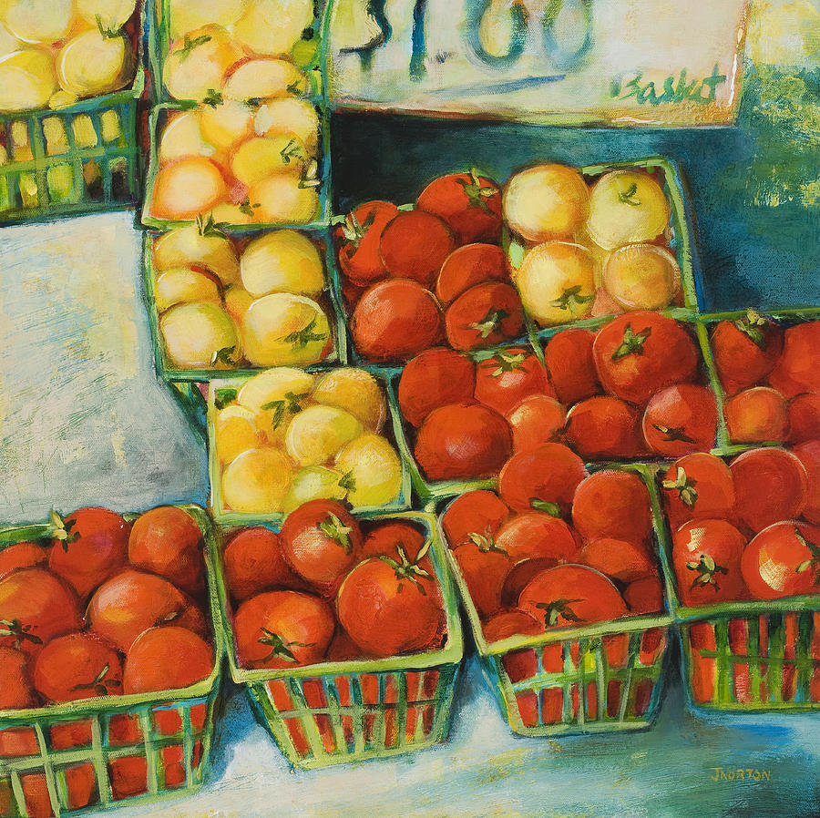 Cherry Tomatoes Painting - Cherry Tomatoes by Jen Norton