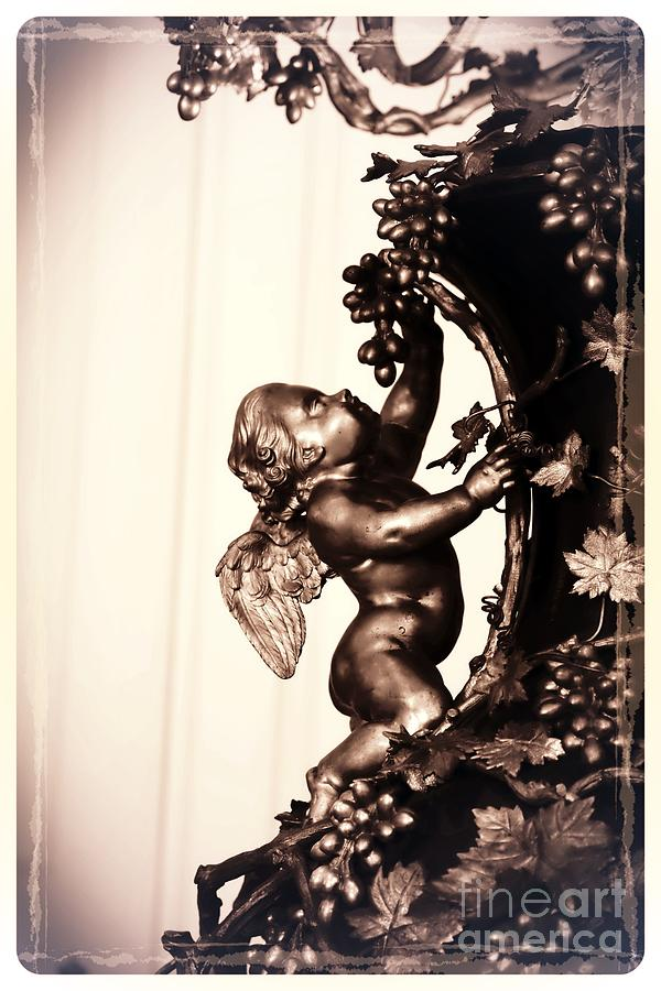 Cherub In Sepia Photograph