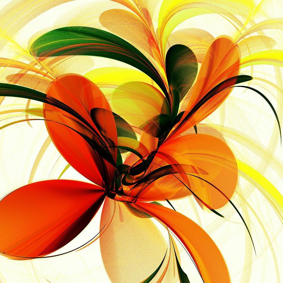 Plant Digital Art - Chervona Ruta by Anastasiya Malakhova