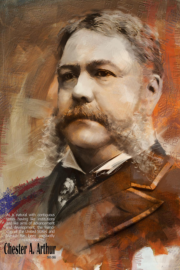 Chester A. Arthur Painting - Chester A. Arthur by Corporate Art Task Force