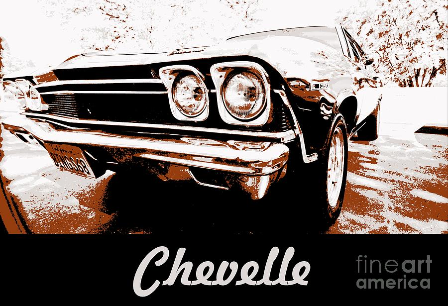 Chevelle Pop Art Photograph  - Chevelle Pop Art Fine Art Print