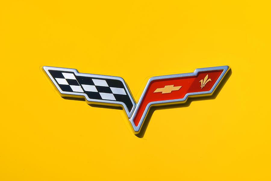 Chevrolet Corvette Flags Photograph