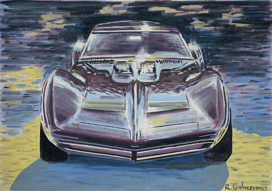 Chevrolet Corvette Painting  - Chevrolet Corvette Fine Art Print