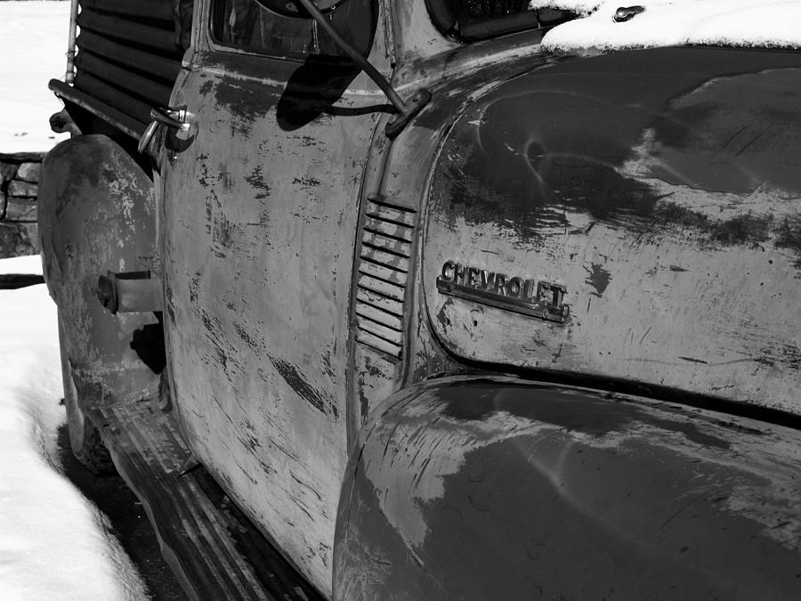 Chevy B/w Photograph