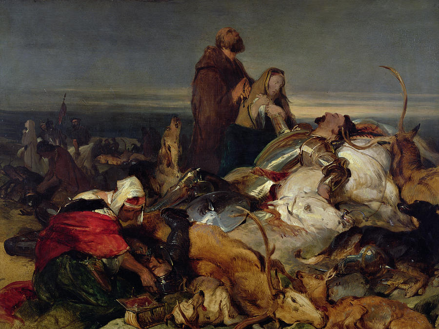 Scottish Painting - Chevy Chase by Sir Edwin Landseer