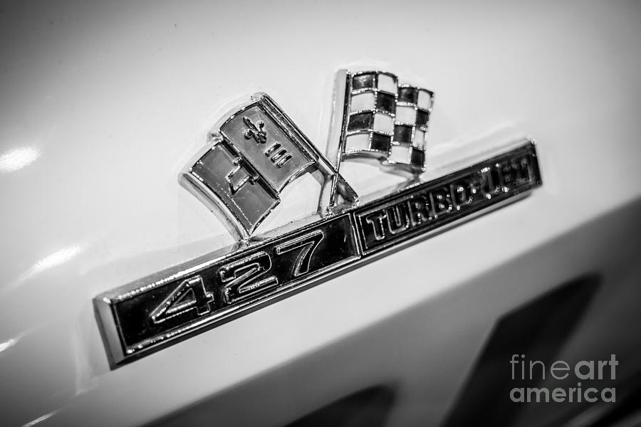 Chevy Corvette 427 Turbo-jet Emblem Photograph