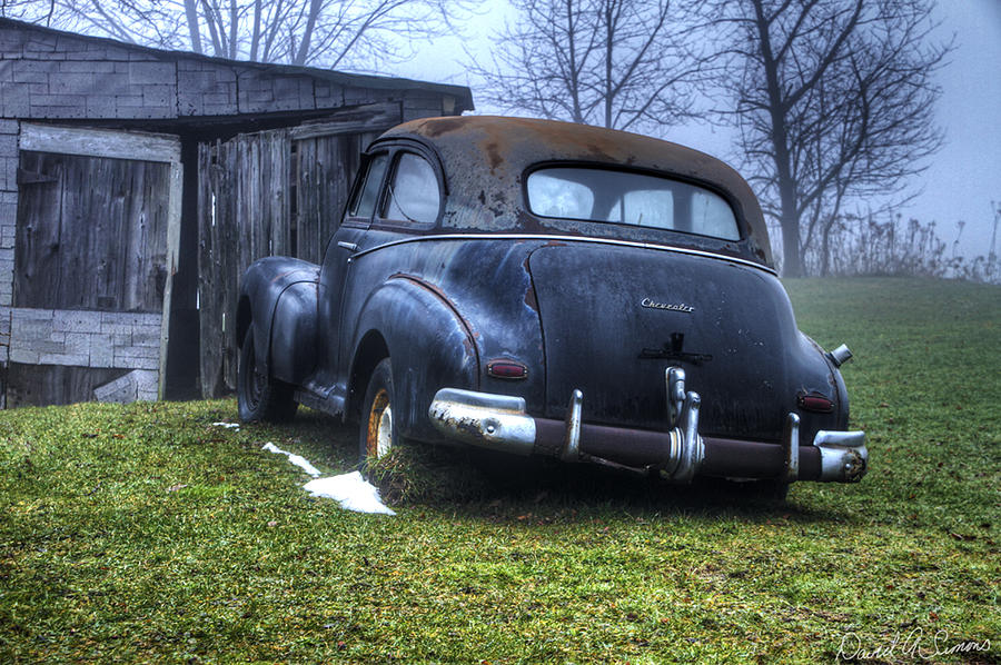 Chevrolet Photograph - Chevy Runs Deep by David Simons
