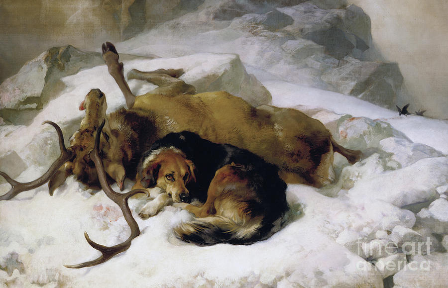 Dog Painting - Chevy by Sir Edwin Landseer