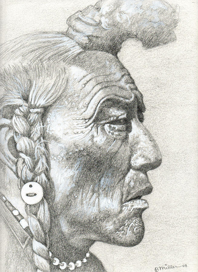 Cheyenne Medicine Man Drawing
