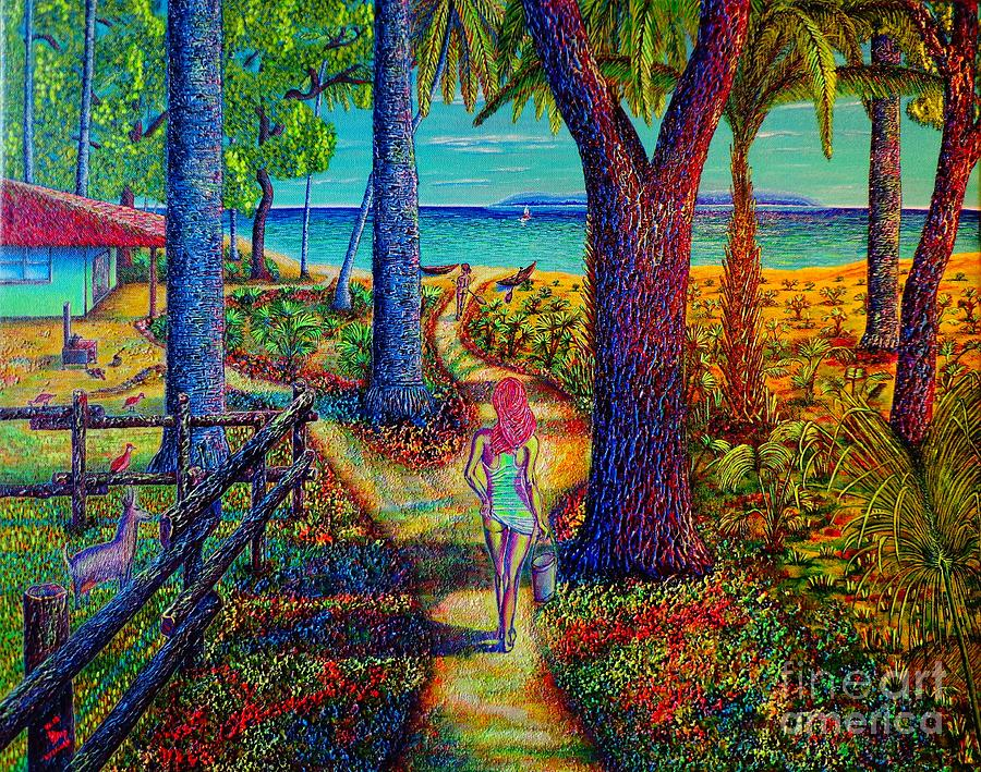 Seascape Painting - Chez Les Amazons by Viktor Lazarev