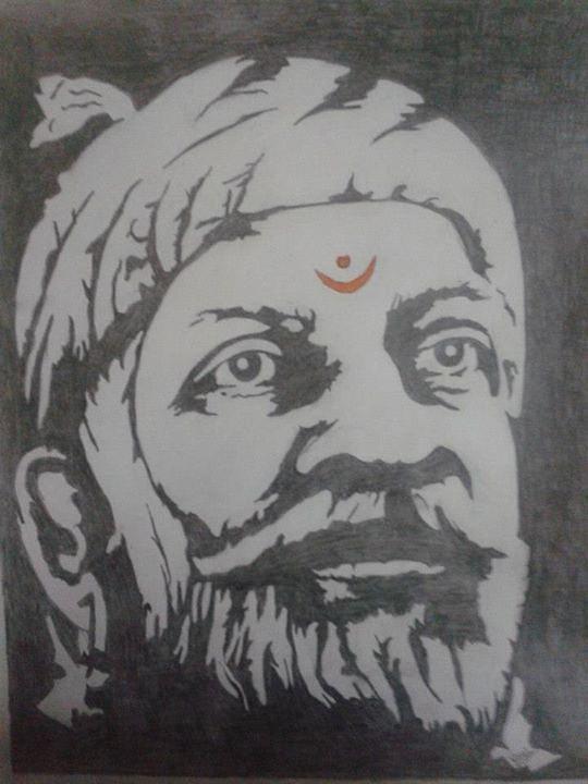 Chhatrapati Shivaji Maharaj Drawing By Vipul Dhongade