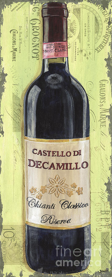 Alcohol Painting - Chianti And Friends Panel 2 by Debbie DeWitt