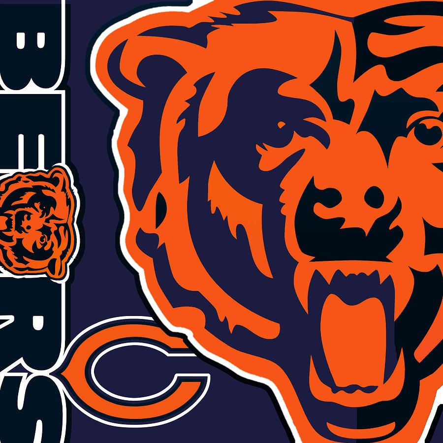 Chicago Bears Painting By Tony Rubino