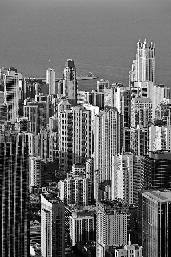 Chicago - Birds-eye-view Photograph  - Chicago - Birds-eye-view Fine Art Print