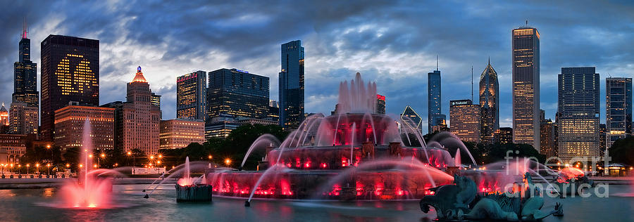 Chicago Blackhawks Skyline Photograph