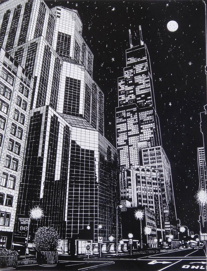 Chicago Drawing  - Chicago Fine Art Print