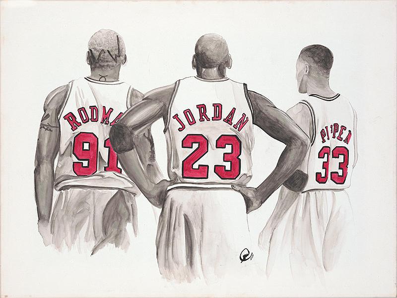 Chicago Bulls Painting - Chicago Bulls by Megan Padilla