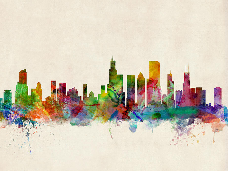 Chicago City Skyline Digital Art