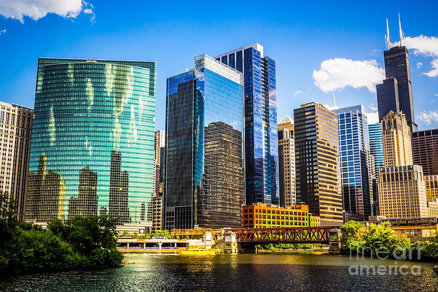 Chicago City Skyline Photograph