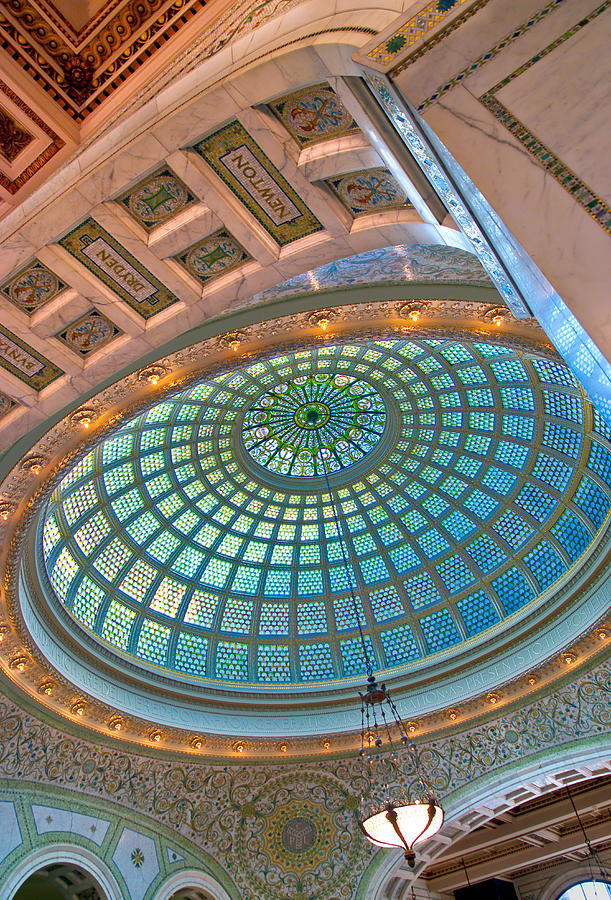 Chicago Cultural Center Tiffany Dome Photograph  - Chicago Cultural Center Tiffany Dome Fine Art Print