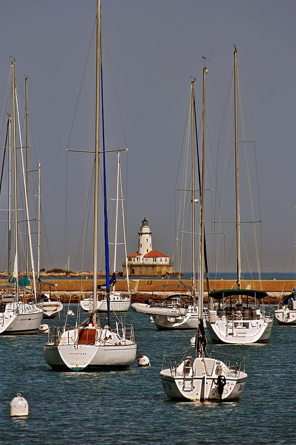 Chicago Harbor Lighthouse Illinois Photograph  - Chicago Harbor Lighthouse Illinois Fine Art Print