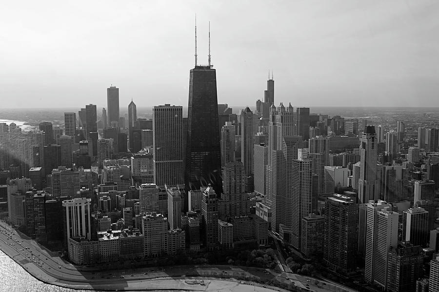 Chicago Looking South 01 Black And White Photograph