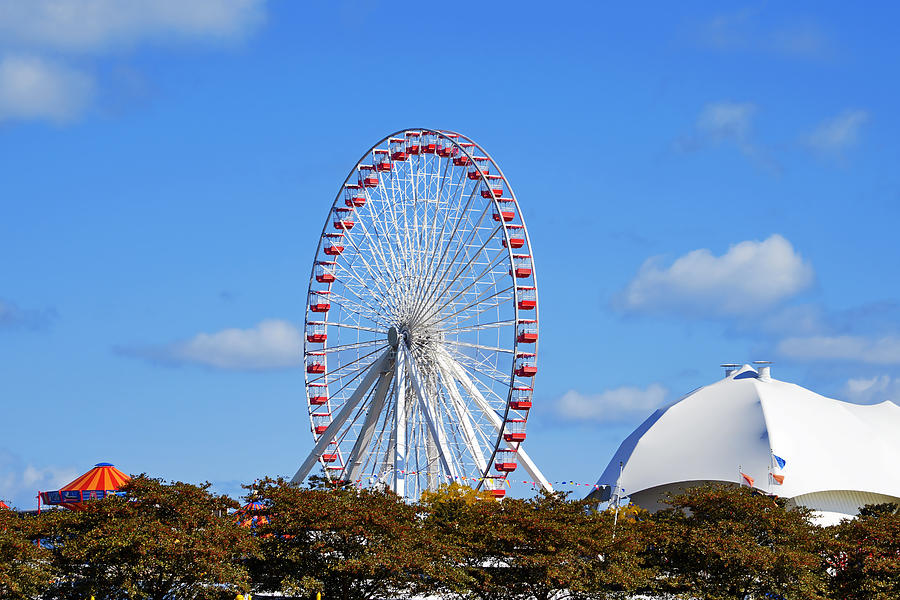 Chicago Navy Pier Ferris Wheel Photograph  - Chicago Navy Pier Ferris Wheel Fine Art Print