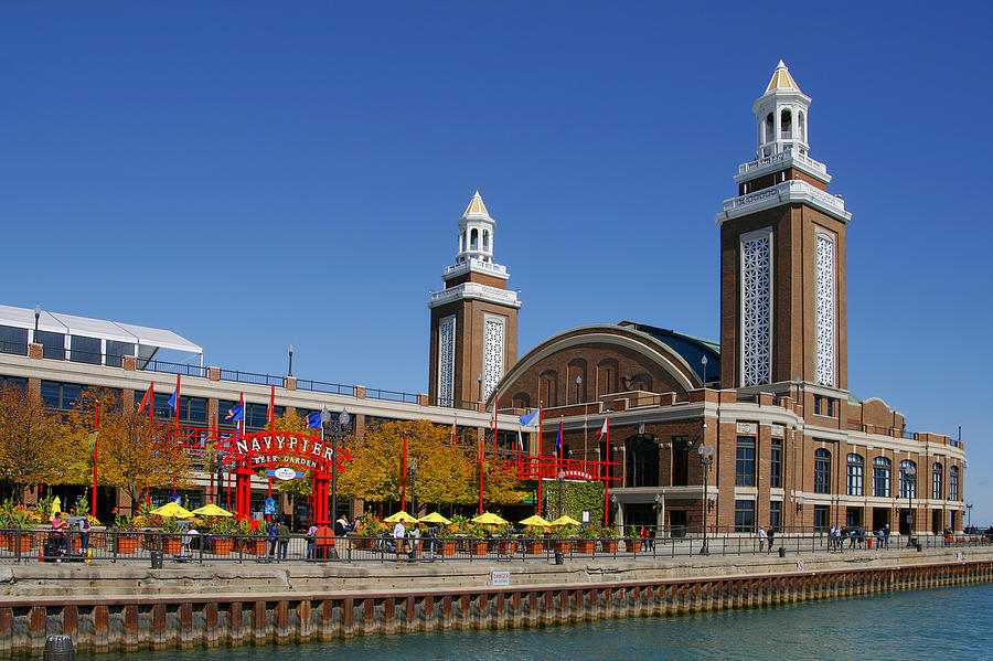 Chicago Navy Pier Headhouse Photograph  - Chicago Navy Pier Headhouse Fine Art Print
