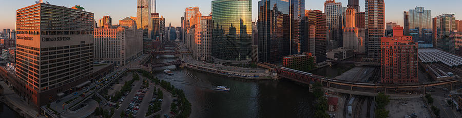 Chicago Photograph - Chicago On The River by Steve Gadomski