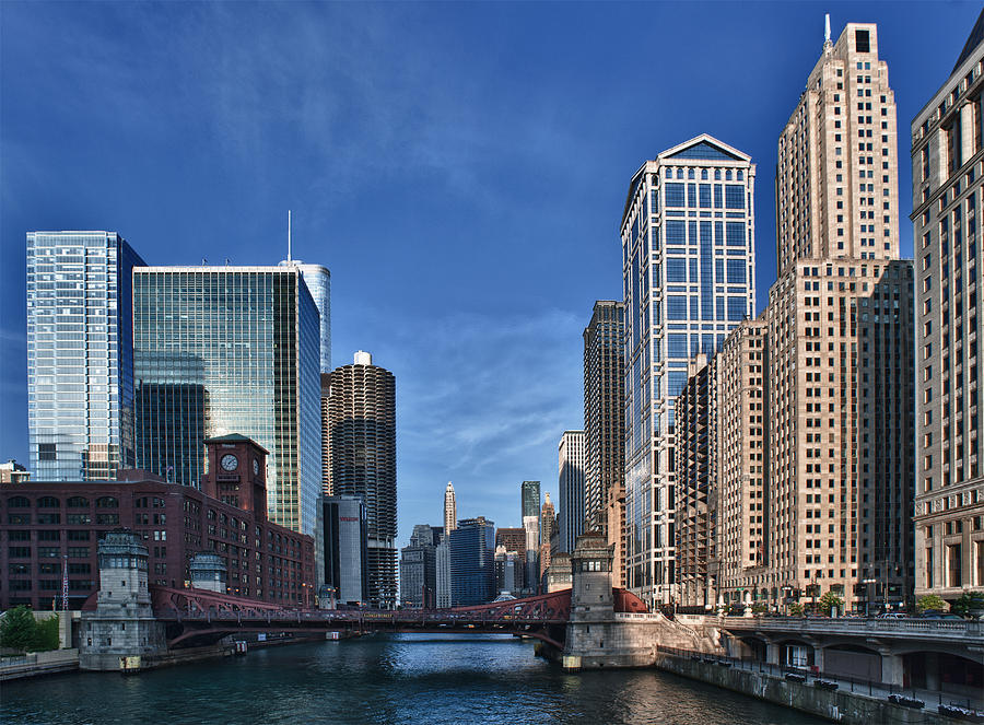 Chicago River Photograph by Sebastian Musial