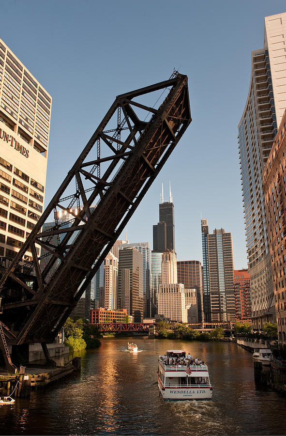 Chicago River Traffic Photograph
