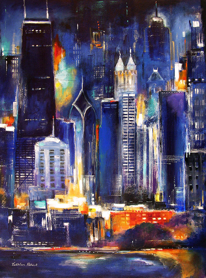 Famous Paintings Of Chicago Skyline Buildings