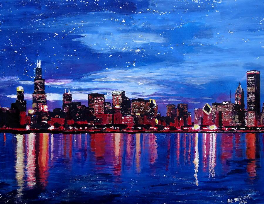 chicago skyline art - photo #14