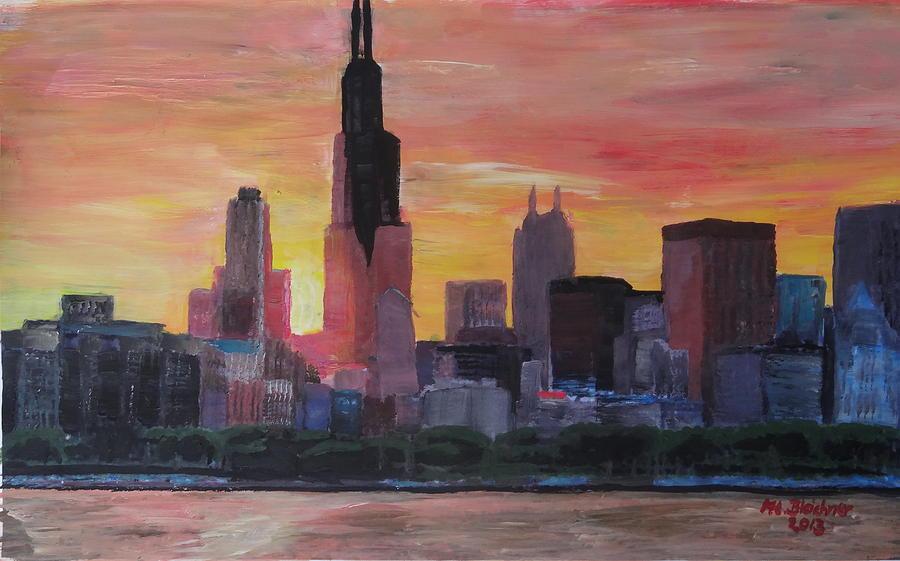 chicago skyline art - photo #38