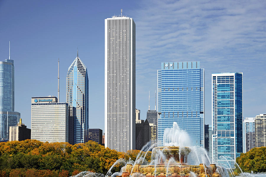 Chicago Skyline From Millenium Park Iv Photograph