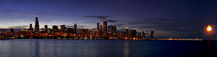 Chicago Photograph - Chicago Skyline From The Lake by Andrew Soundarajan