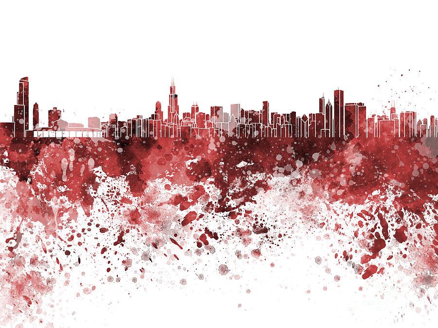 chicago skyline art - photo #15