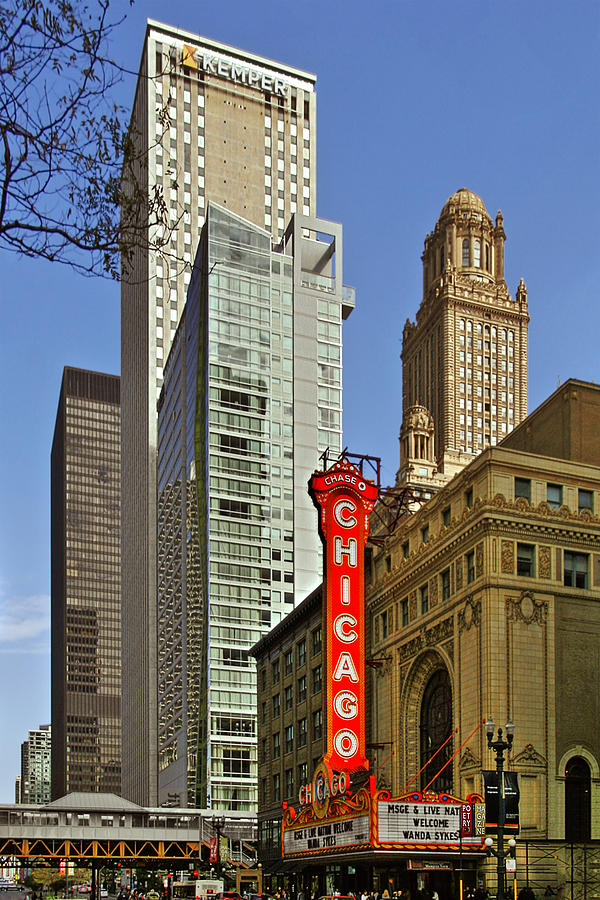 Chicago Theatre - This Theater Exudes Class Photograph  - Chicago Theatre - This Theater Exudes Class Fine Art Print