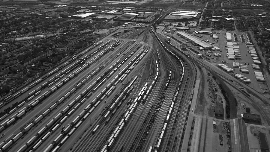 Chicago Transportation 02 Black And White Photograph  - Chicago Transportation 02 Black And White Fine Art Print