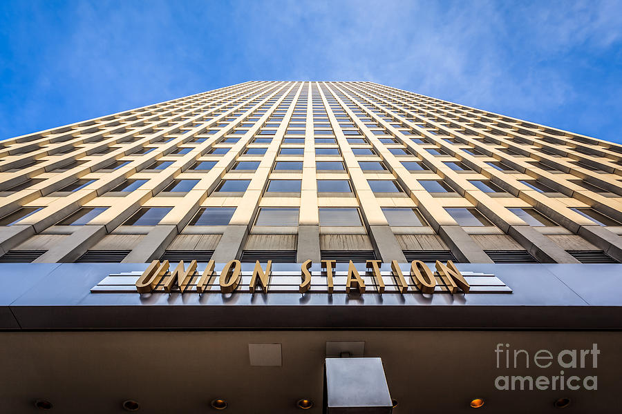 Chicago Union Station Sign And Building Exterior Photograph  - Chicago Union Station Sign And Building Exterior Fine Art Print