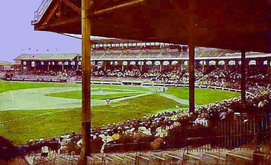 Chicago White Sox Ballpark Stadium Around 1920 Painting  - Chicago White Sox Ballpark Stadium Around 1920 Fine Art Print