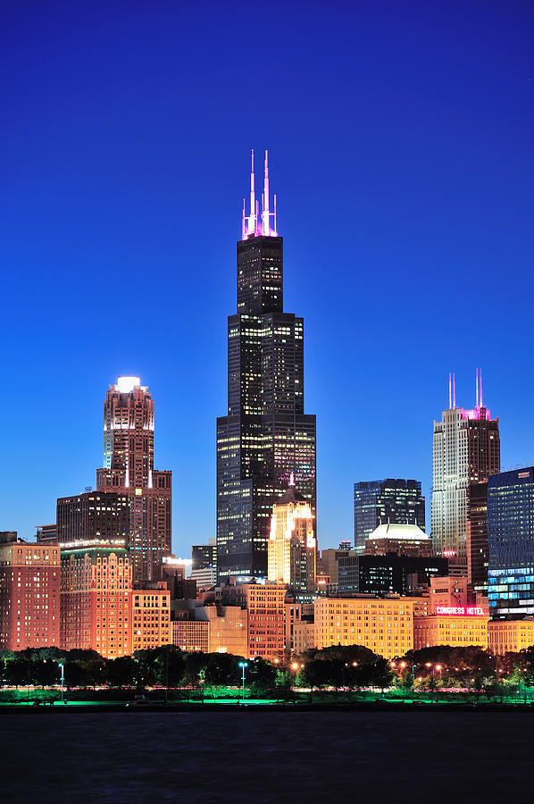 Chicago Willis Tower Photograph By Songquan Deng