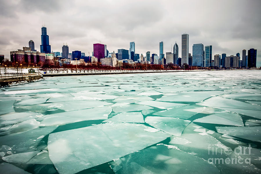 Chicago Winter Skyline Photograph