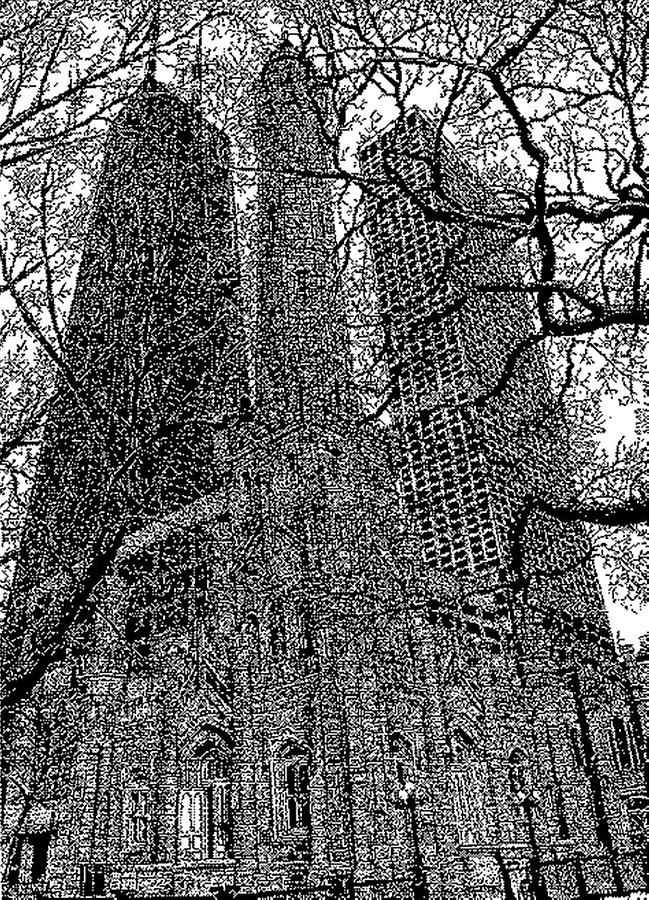 Chicagos Watertower Place Drawing  - Chicagos Watertower Place Fine Art Print