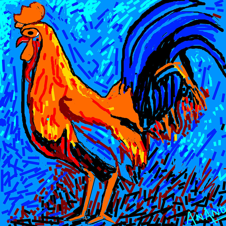 Chicken-5 Digital Art