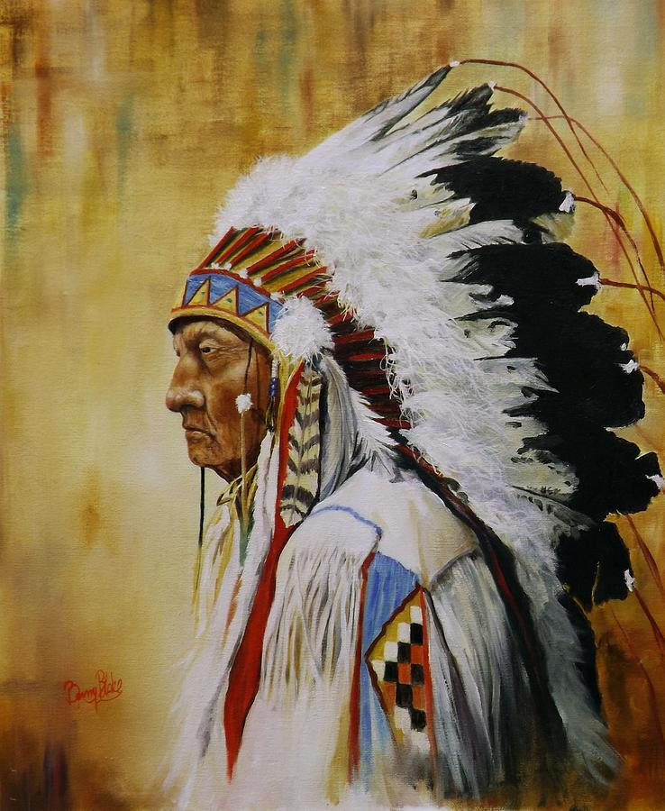 Chief Sitting Bull Tatanka Iyotanka Painting By Barry Blake